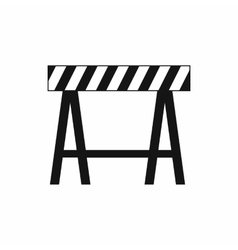 Traffic barrier icon simple style vector