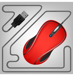 08052015 01mouse red vector