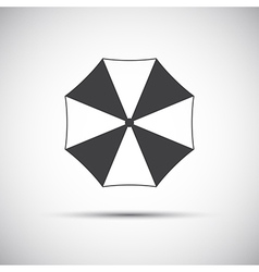 Simple grey beach umbrella icon vector