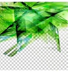 Abstract green top oriented decor vector image