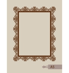 Abstract square frame with swirls vector