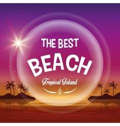 Beach design Summer icon Colorful vector image