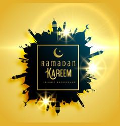 Beautiful ramadan kareem greeting card design vector