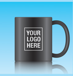 Black coffee mug vector