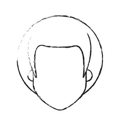 Blurred silhouette caricature faceless front view vector