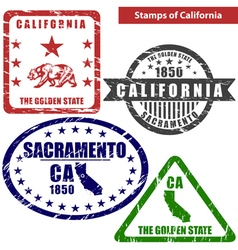 California in stamps vector