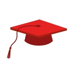 cap graduation education ceremony isolated vector image