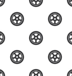 car wheel seamless pattern vector image