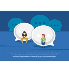 Chat talk addiction concept vector