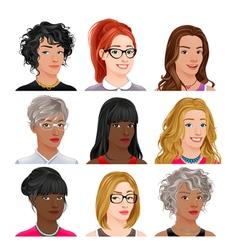 Different female avatars vector