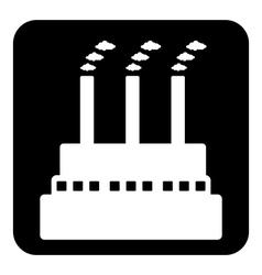 Factory symbol button vector image