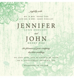 faded invite vector image vector image