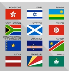 Flags of world flat set number 10 vector