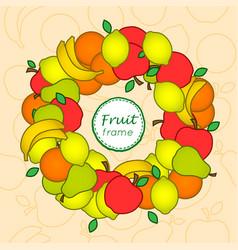 fruit frame vector image vector image