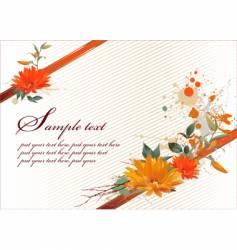 grunge floral gift background vector image vector image