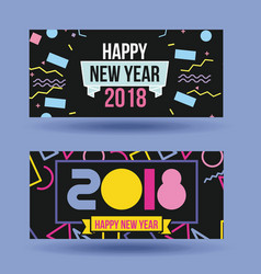 happy new year 2018 card greeting celebration vector image