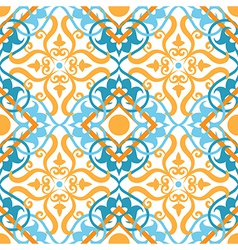 keltic pattern yellow vector image