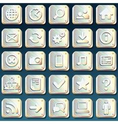 Metallic buttons vector