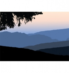 Mountains vector