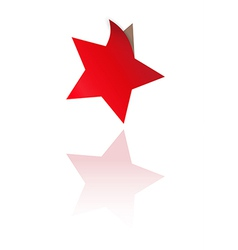 Red star with one bent corner vector