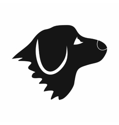 Retriever dog icon simple style vector