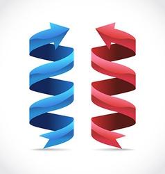 ribbons vector image vector image