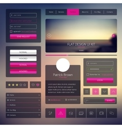 Set of web elements in flat style trendy vector