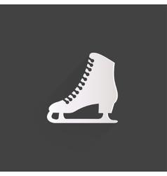 Skate web icon vector