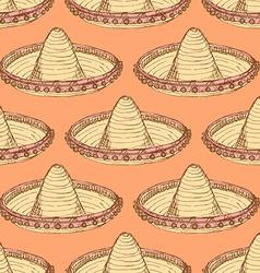 Sketch mexican sombrero in vintage style vector image vector image