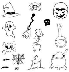 Stock halloween doodle vector