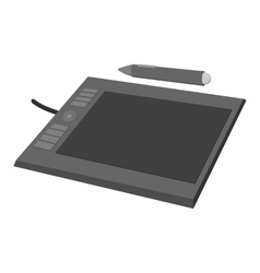 Tablet for drawing cartoon icon vector image vector image