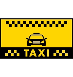 taxi background with cab silhouette vector image