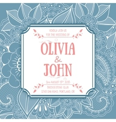 Wedding invitation card invitation card vector image