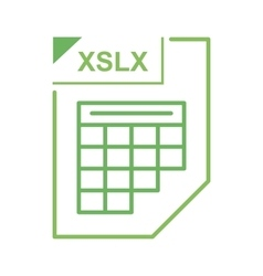 XSLX file icon cartoon style vector image