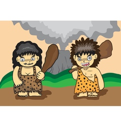 Stone age cartoon vector