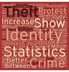 Identity theft statistics text background vector