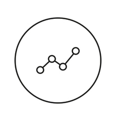 Chart diagram Icon vector image
