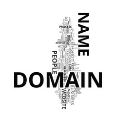 Your domain just the facts text word cloud concept vector