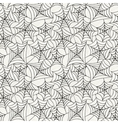 Seamless pattern with spider web vector