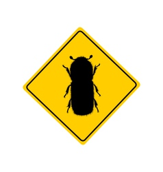 Bark beetle warning sign vector