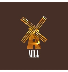 With mill icon vector