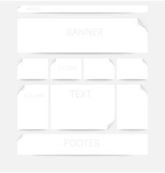 Webpage layout vector