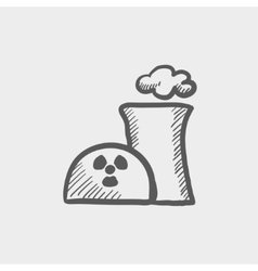 Ecology with propeller sketch icon vector