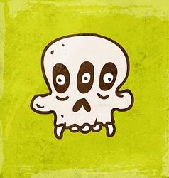 Three Eyed Skull Cartoon vector image