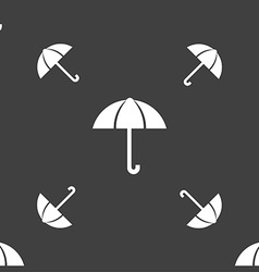 Umbrella sign icon rain protection symbol seamless vector