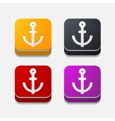 Square button anchor vector