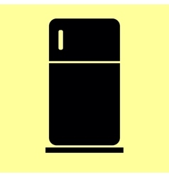 Refrigerator sign flat style icon vector
