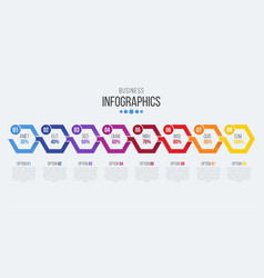 8 steps timeline infographic template with arrows vector