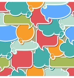 Colorful speech bubbles background vector