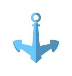 Anchor isolated on white vector